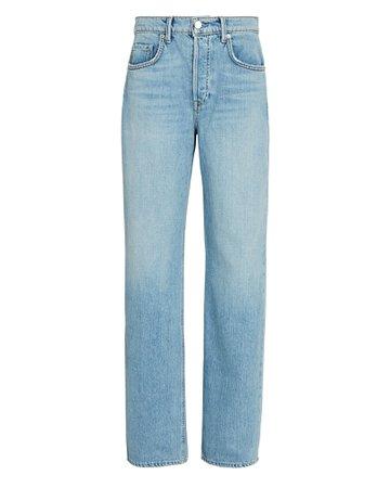 GRLFRND Brooklyn Straight-Leg Jeans   INTERMIX®