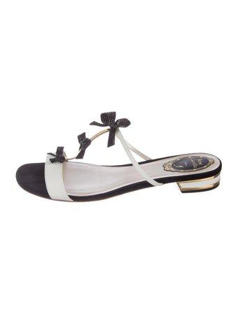 René Caovilla Karung Embellished Sandals - Shoes - REC23983 | The RealReal