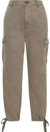 Cotton And Tencel-blend Twill Tapered Pants