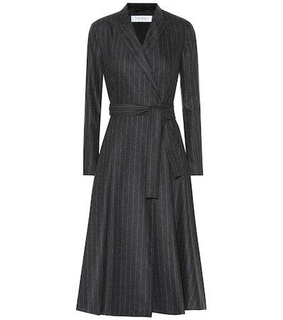 Unione pinstriped wool-blend dress