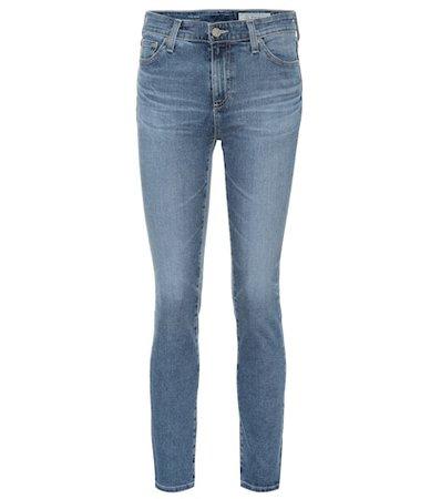 The Mari high-rise straight jeans