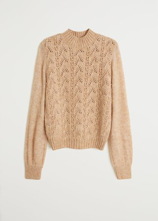 Openwork knit sweater - Women | Mango USA