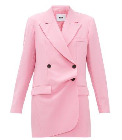 MSGM Pink Blazer Dress