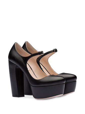 Miu Miu Platform Mary Jane Pumps - Farfetch