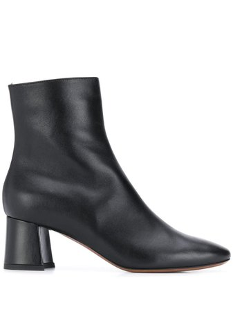 LAutre Chose Black Leather Ankle Boots
