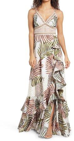 Palmeira Lace Trim Sleeveless Maxi Dress