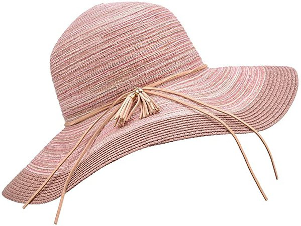 SOMALER Women Floppy Sun Hat Summer Wide Brim Beach Cap Packable Cotton Straw Hat for Travel at Amazon Women's Clothing store