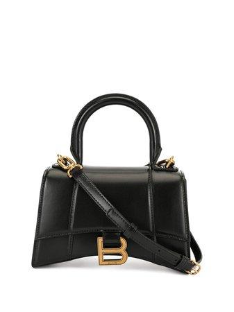 Black Balenciaga Hourglass miniature tote bag 5928331QJ4M - Farfetch