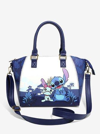 Loungefly Disney Lilo & Stitch Dark Blue Satchel Bag