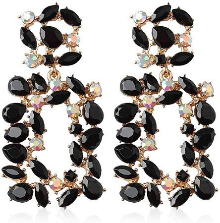 Amazon.com: Statement Earrings for Women Fashion 2020 with Dangling Rhinestone, Aretes De Mujer De Moda, Costume Colorful Jewelry Stud Earring by Holylove: Clothing