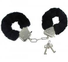 black fuzzy handcuffs - Google Search