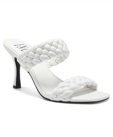 INC International Concepts INC Women's Lyra Braided Sandals, Created for Macy's & Reviews - Sandals - Shoes - Macy's white