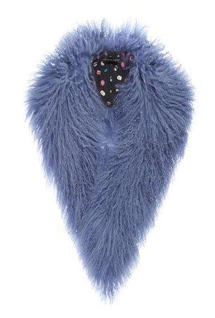 Charlotte Simone COOKIES Fur Collar - BLUE