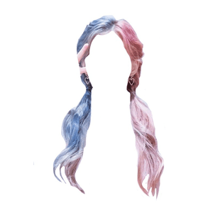 Blue and Pink Hair PNG