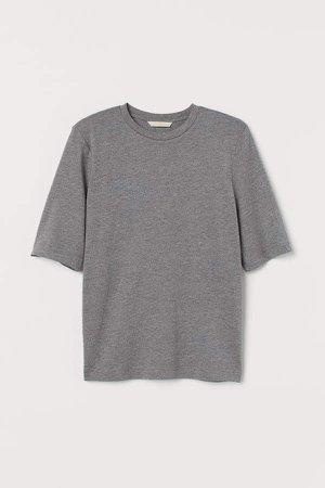 Shoulder-pad T-shirt - Gray