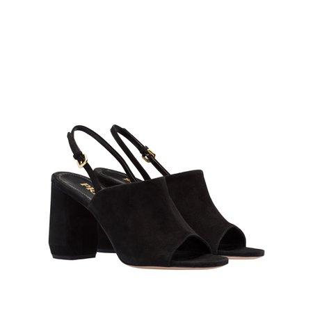 Suede sandals | Prada - 1X677L_008_F0002_F_085