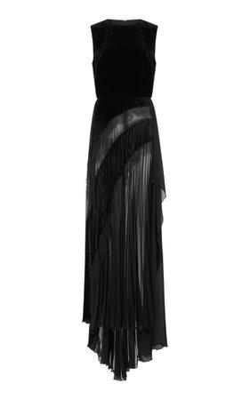 Elie Saab- Sleeveless Velvet Gown
