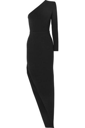 Alex Perry | Jolie one-shoulder asymmetric crepe gown | NET-A-PORTER.COM