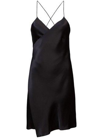 Michelle Mason wrap-front silk mini dress