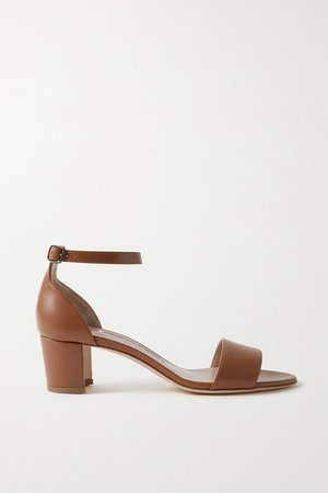 Lauratomod Leather Sandals - Light brown