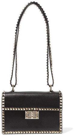 Garavani The Rockstud No Limit Textured-leather Shoulder Bag - Black