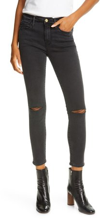 Le Skinny de Jeanne Ripped AnkleJeans