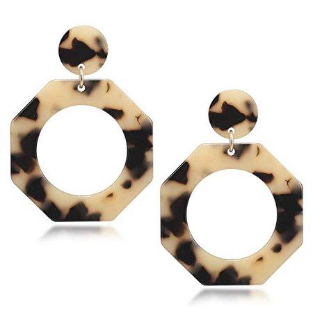Amazon.com: Fashion Jewelry Earrings Hoop Bohemian Statement Acrylic Dangle Drop Hoop Earrings for Women: Jewelry