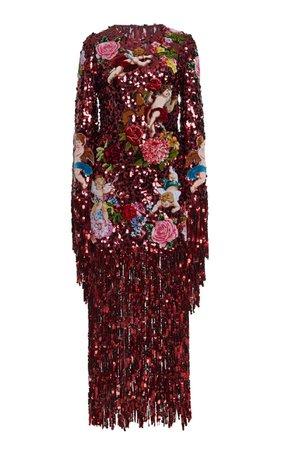 Dolce & Gabbana Sequin Fringe Dress