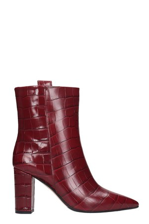 The Seller Ankle Boots In Bordeaux Leather