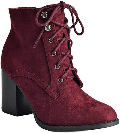 Amazon.com | Soda Women's Block Heel Closed Toe Booties | Ankle & Bootie
