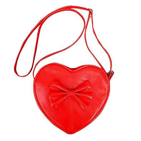 Amazon.com: Orfila Girls Purse Handbags Cute Bowknot Heart Shape Shoulder Bag Mini Faux Leather Crossbody Bag Red: Shoes