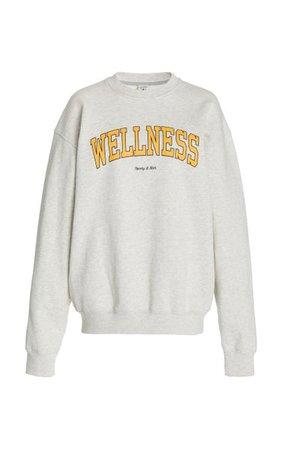 Wellness Ivy Cotton Jersey Sweatshirt By Sporty & Rich | Moda Operandi