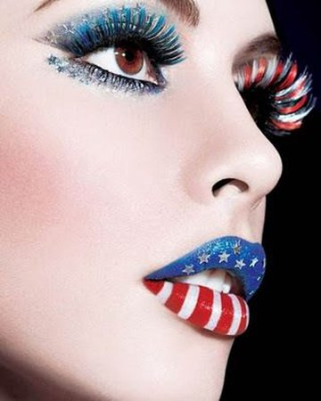 red white and blue makeup - Google Search