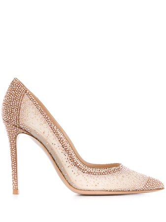Pink Gianvito Rossi Embellished Pumps | Farfetch.com