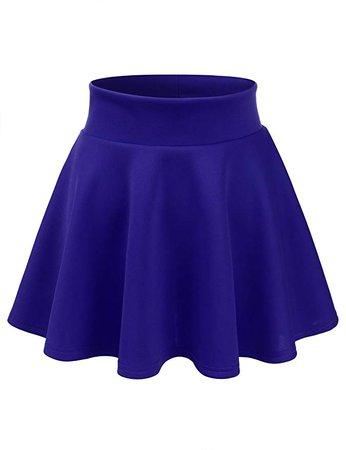 Royal Blue Skater-Skirt