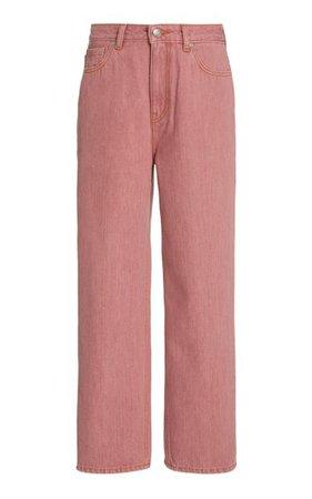 Yarn-Dyed Mid-Rise Straight-Leg Jeans By Ganni | Moda Operandi