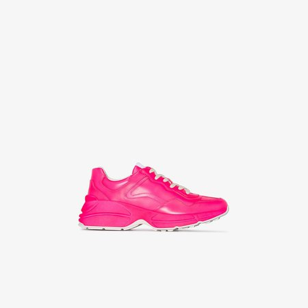 Pink Rhyton leather sneakers