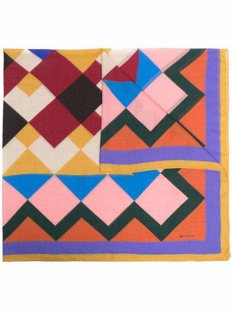 Etro geometric cashmere scarf - FARFETCH