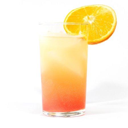pink and orange drink
