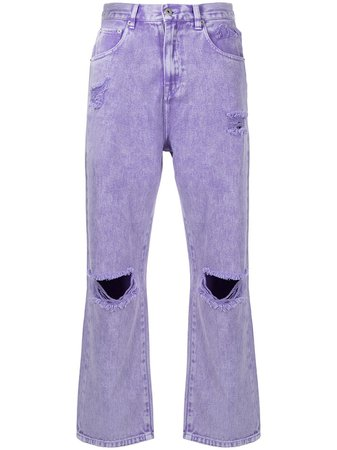 Shop Ground Zero ripped-detail jeans with Express Delivery - FARFETCH