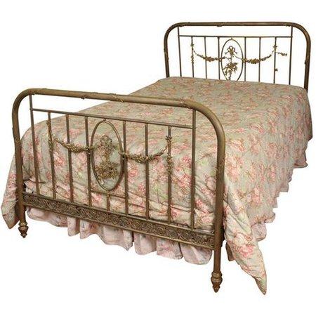 vintage French bed png filler
