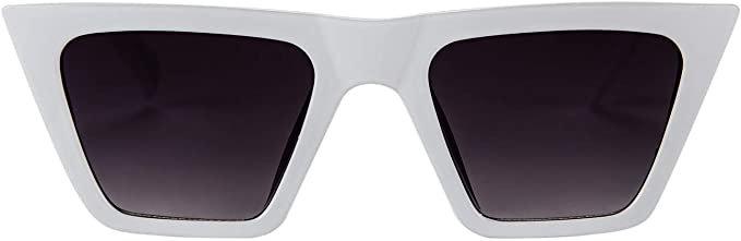 Amazon.com: FEISEDY Vintage Square Cat Eye Sunglasses Women Fashion Small Cateye Sunglasses B2473 (001, 52): Clothing