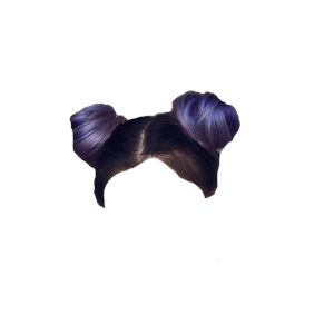 Purple Hair PNG Space Buns