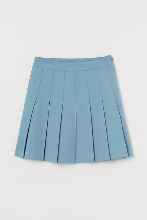Pleated Skirt - Blue