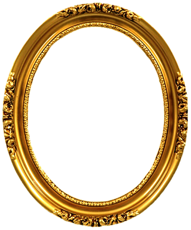 Ornate Oval Frame (gold)