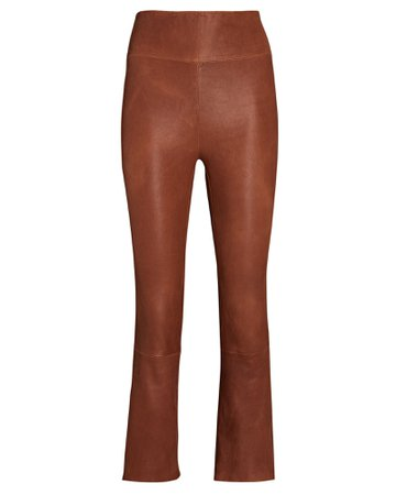 SPRWMN Cropped Flare Leather Leggings   INTERMIX®