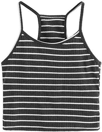 Amazon.com: YOMXL Casual Basic Camis Tops Summer Women Striped Ribbed Camisole Sexy Tank Tops Spaghetti Strap Crop Top: Clothing