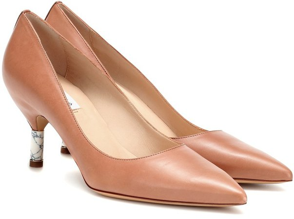 Justina leather pumps
