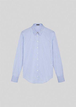 Versace Striped Cotton Shirt for Women   US Online Store