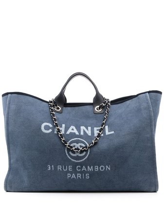 Chanel Pre-Owned Sac Cabas XL Deauville - Farfetch